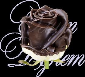 Роза шоколадная