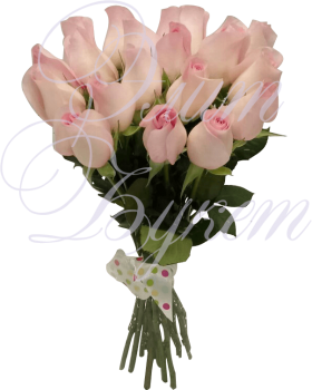 15 розовых роз «Розовый десерт»
