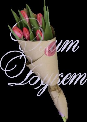 5 тюльпанов в крафте «Лаконичность»