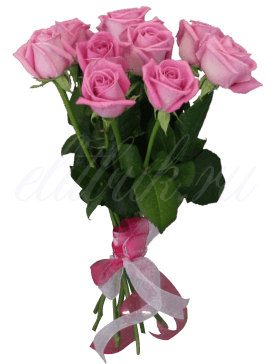 9 роз «Аква»