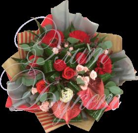 Букет «Багровые розы»
