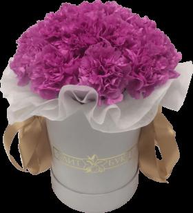 Букет в коробке «Розовый зефир»