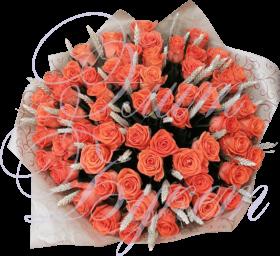 «Эверест любви» из 59 роз