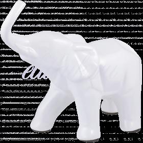 Керамическая Белая Декор Фигура Слона M