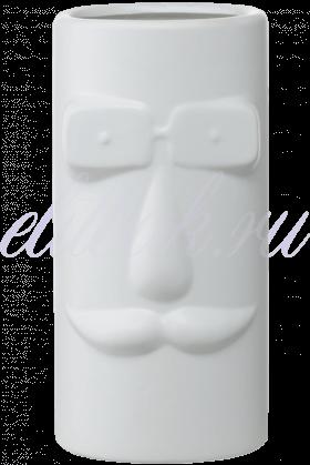 Керамическая Белая Ваза-Лицо 25 см
