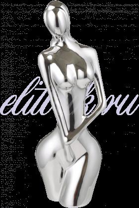 Керамическая Серебристая Статуэтка Женственность S