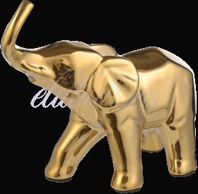 Керамическая Золотистая Декор Фигура Слона M