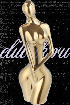 Керамическая Золотистая Статуэтка Женственность S