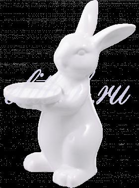 Керамический Белый подсвечник Кролик-Зефир Малый