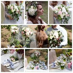 Свадьба в бело-зеленом цвете