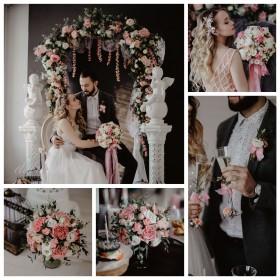 Свадьба в нежно-розовом цвете