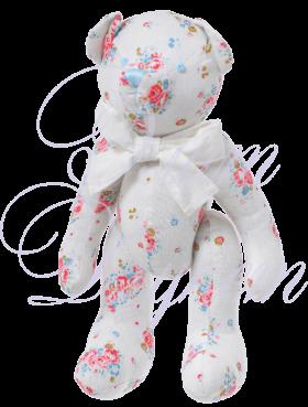 медвежонок белый с розами 25 см