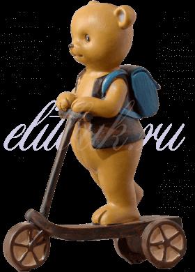 Мишка декор Школьник на самокате 18x12x5