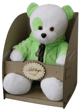 Мишка в зеленой куртке