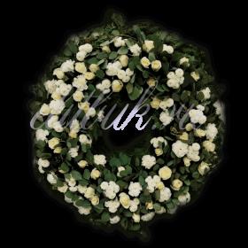 Ритуальный венок из живых цветов №3