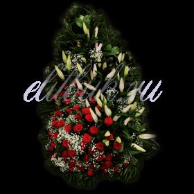 Ритуальный венок из живых цветов №4