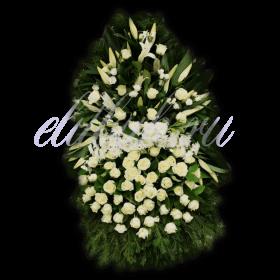 Ритуальный венок из живых цветов №5