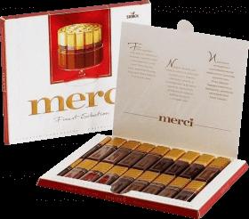 Шоколадные конфеты MERCI ассорти 250гр