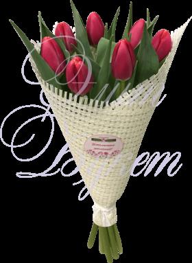 «Скромная улыбка» из 7 тюльпанов