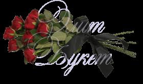 Траурный букет с цветами №1