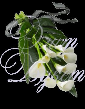 Траурный букет с цветами №2