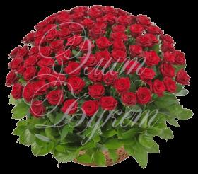 Траурная корзина с цветами №2