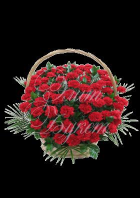 Траурная корзина с цветами №3