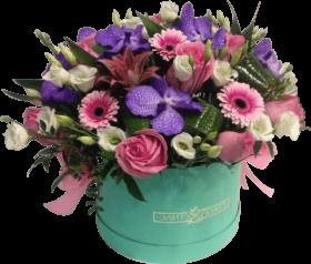 Цветы в коробке «Влечение сердца»