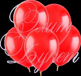 Воздушный шарик с гелием, красный, 30 см