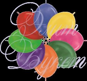 Воздушный шарик с гелием, металл, 30 см