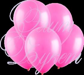 Воздушный шарик с гелием, розовый, 30 см