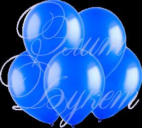 Воздушный шарик с гелием, синий, 30 см