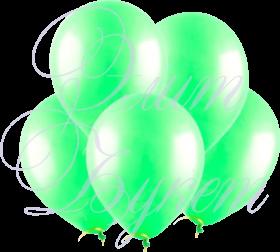 Воздушный шарик с гелием, зеленый, 30 см