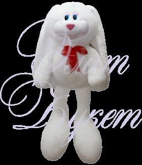 Заяц Роджер белый 55см