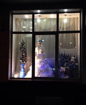 Зимняя витрина «Снежная королева»