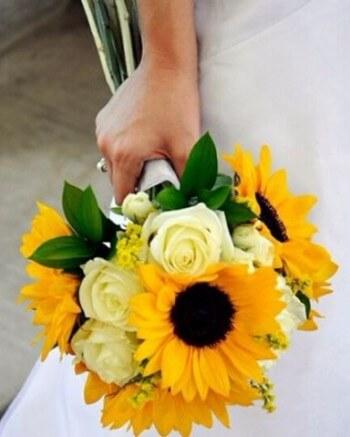 Букет невесты радость солнца
