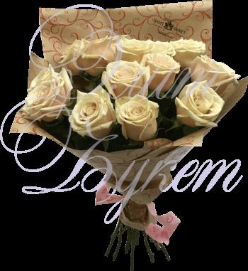 15 роз «Сахара» в упаковке