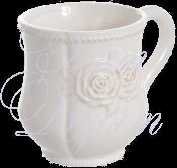 чашка керамическая белая 12х9х10 см