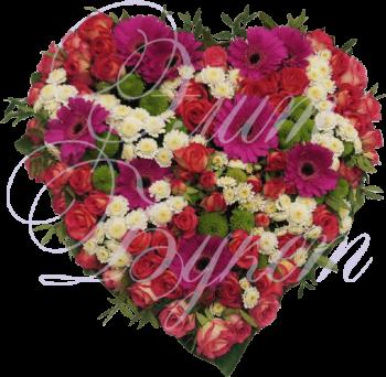 Сердце из цветов «Моя любовь»