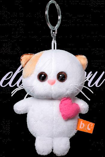 Кошечка Ли Ли брелок с розовым сердцем