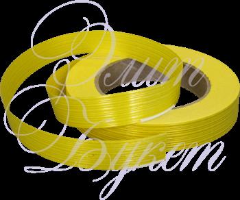 Лента пластик желтая