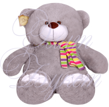 Мишка Сева серый 70см