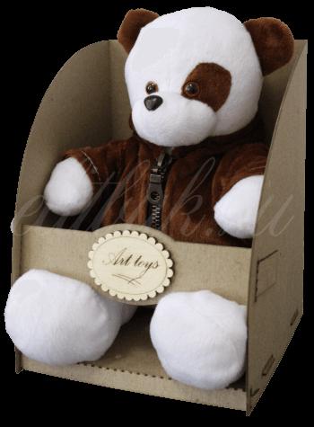 Мишка в коричневой куртке