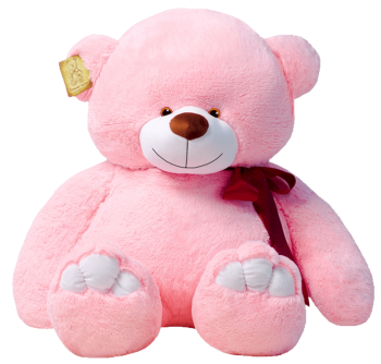 Мишка Рафаэль розовый 110 см