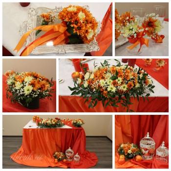 Свадьба в красно-оранжевом цвете
