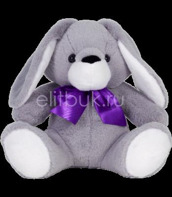 Заяц Джастин серый 40 см