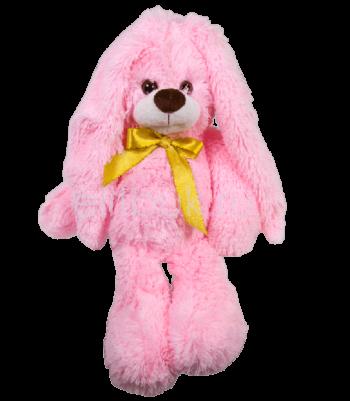Заяц Филипп розовый 40 см