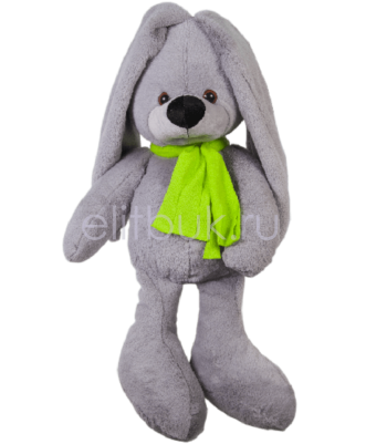 Заяц Любим серый 50 см