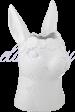 Белая Керамическая Ваза-Кролик L