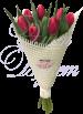 Букет из 7 тюльпанов «Желаю счастья!»